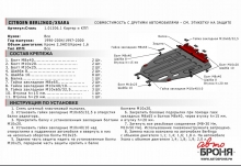 Защита картера и КПП Citroen Berlingo 1996-2004