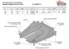 Защита картера и КПП Nissan Almera 2012-