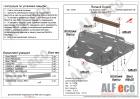 Защита картера и КПП Nissan Terrano 2014-