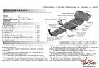 Защита картера Mitsubishi Pajero III 1999-2006