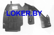 Защита двигателя боковая правая Citroen Jumpy 2004-2007(возможна установка)