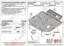 Защита картера и КПП Chevrolet Captiva I Рестайлинг 2011-н.в.(возможна установка)