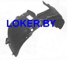 Защита крыльев (подкрылок) передний левый Opel Combo/Corsa C 2000-2006 (11 01 367)(возможна установка)(возможна установка)